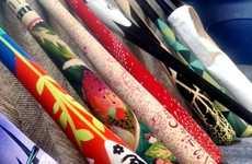 Artistically Crafted Baseball Bats