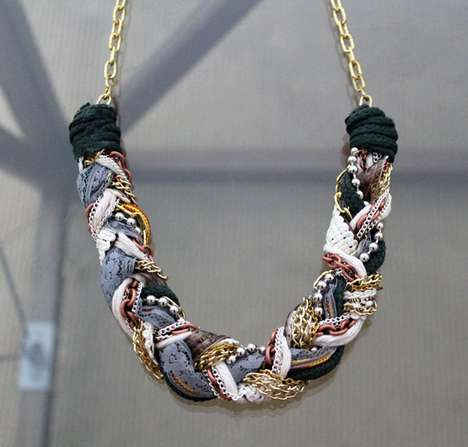 Brit & Co. Braided Necklace