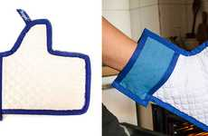 Social Media Potholders - Serve Your Dishes with Approval Using the Facebook Like Oven Mitt