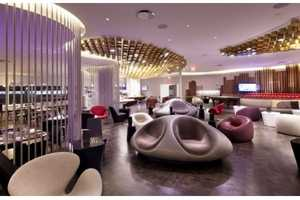 The 'Virgin Upper Class Lounge' is High-Society Relaxation