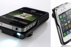 The 'PRJ016 iPhone Micro Projector' Displays Your Work on the Big Screen