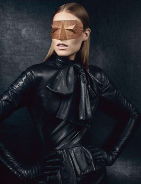 Lustrous Leather Editorials - The Vogue UK 'New Noir' Shoot Slivers with Sleek Style