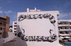 Huge Mechanical Arm Murals