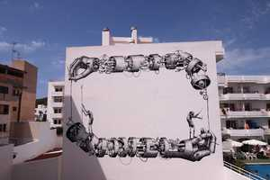 'Phlegm' Mural Dazzles at the Bloop Festival in Ibiza