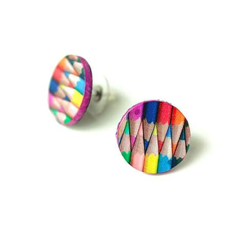 Color Pencils Studs by MADE by MADA