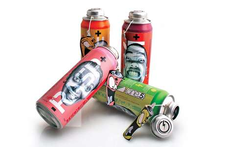 Battery Beverage Branding - Visually Stimulaing One.5 Tequila Packaging Delivers a Sensory Boost