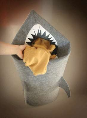 Shark-Shaped Laundry Basket