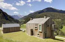 Boldly Framed Barns - The Casa Pre de Sura Treats Surrounding Views Like Large Living Pictures
