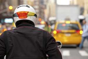 Signal Helmet Break Light Increases Bikers' Street Visibility