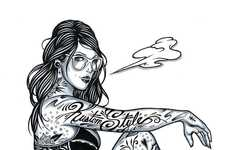 Titillating Tattooed Vixen Drawings