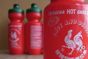 The Gage and DeSoto Sriracha Water Bottle Mimics the Iconic Design
