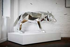 Arran Gregory 'Wolf' Exhibit Tackles Wild Nature and Primal Animals