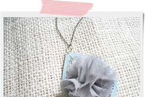 The Two Shades of Pink Chiffon Ruffle Necklace is Stylish