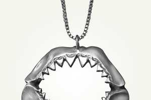 The Shark Jaw Necklace by LUCIOUS Jewelry is Perfect for Shark Week