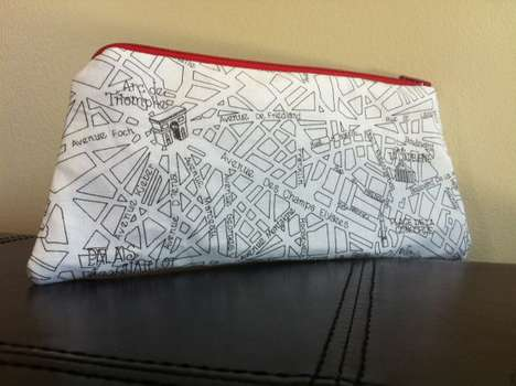 Paris Street Map Makeup Bag