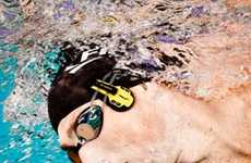 Submerged Swimmer Headphones