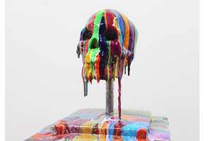 Markus Linnenbrink Crafts a Cranium Smeared with Prismatic Paint