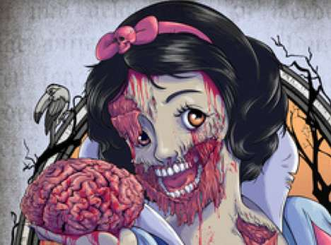bloodthirsty brain-eating depictions