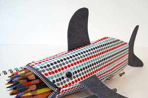 This Shark Pencil Case by Minne Bites Devours Writing Tools