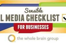 Online Branding Infographics - This Sensible Social Media Checklist is a Guideline for Businesses