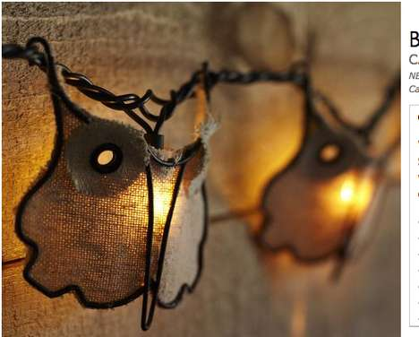 Burlap Owl String Lights by Pottery Barn