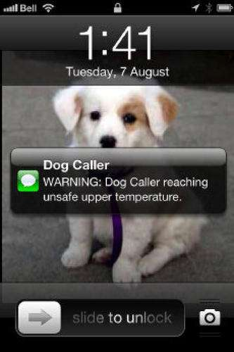 Overheated Pet Warnings - Dog Caller Sends You a Text When Your Pup Gets Too Hot