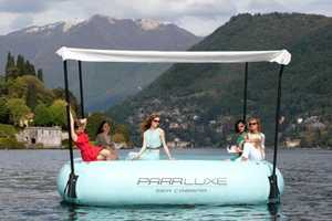The ParrLuxe Sea Cabana Makes Relaxing on the Water Easy