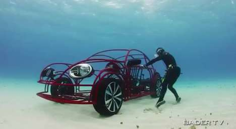 Volkswagen Beetle Mobile Shark Cage