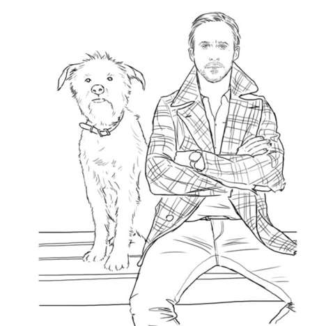 Ryan Gosling Coloring Book