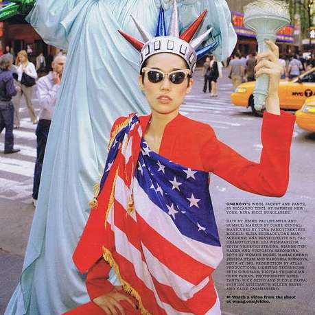 42 Liu Wen Photoshoots - From Nomadic Couture Spreads to Patriotic Street Shoots