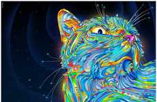 Otherworldly Cat Illustrations