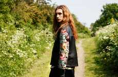 Androgynous Floral Print Fashion