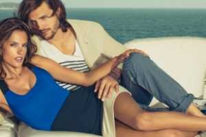 Alessandra Ambrosio and Ashton Kutcher for Spring/Summer Colcci 2012