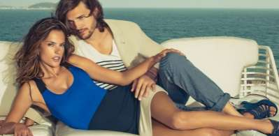 Snuggling Celebrity Campaigns - Alessandra Ambrosio and Ashton Kutcher for Spring/Summer Colcci 2012