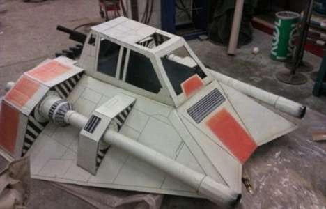 Star Wars snowspeeder sled