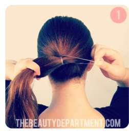 coiled low bun tutorial