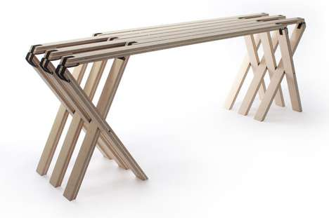 63 Degrees folding bench