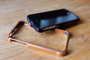 The Esterism Embrace 4 Bumper Case Floats in its Shell