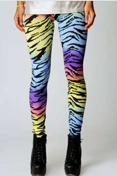 Multicolor Animal Print Leggings