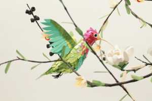 The Diana Beltran Herrera Paper Hummingbirds are Surreal