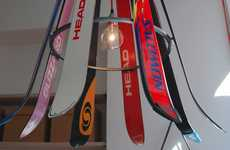 Eccentric Ski Equipment Lighting - The Willem Heeffer Ski Chandelier Up-cycles Old Gear