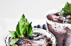 Spiced Fruit Refreshments - The 'How Sweet It Is Roasted Blueberry Basil Margaritas' are Inventive