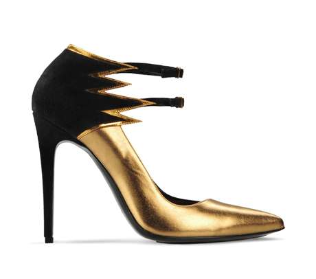 Barbara Bui Flame Metallic Leather Pumps