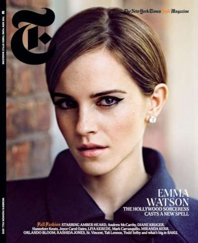 Lady Menswear Editorials - Emma Watson for The New York Times Style Magazine is Chic
