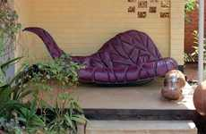 Cradling Leaf Sofas - The Jbomers Design 'Bomers #2' Seat Looks Freshly Fallen and Comfortable