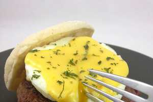 The Eggs Benedict Burger by DudeFoods is Savory and Delectable