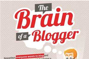 The Brain of the Beginning Blogger Infographic Offers Advice