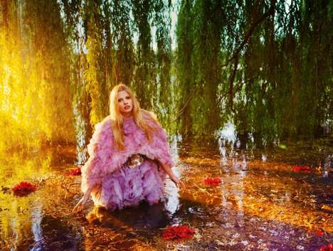 ryan mcGinley lara stone vogue aw2012 fashion editorial winter floral prints alexander mcqueen