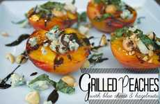 Cheesy Barbecued Fruits - The Shutterbean Grilled Peaches with Blue Cheese Recipe is Mouth-Watering