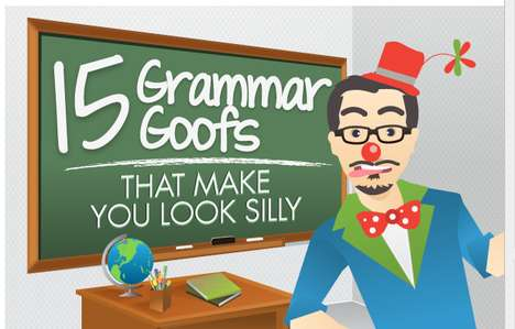 Grammar Gaffe Guides - This Blue Glass Grammar Infographic Fixes Little Mistakes